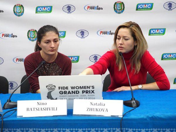 Nino Batsiashvili (GEO) and Natalia Zhukova (UKR)
