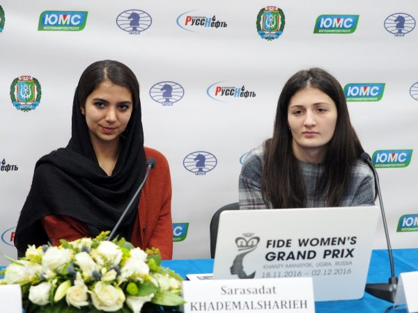 Sarasadat Khademalsharieh (IRN) and Nino Batsiashvili (GEO)