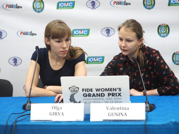 Olga Girya (RUS) and Valentina Gunina (RUS)