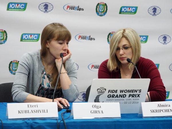Olga Girya (RUS)  and Almira Skripchenko (FRA)