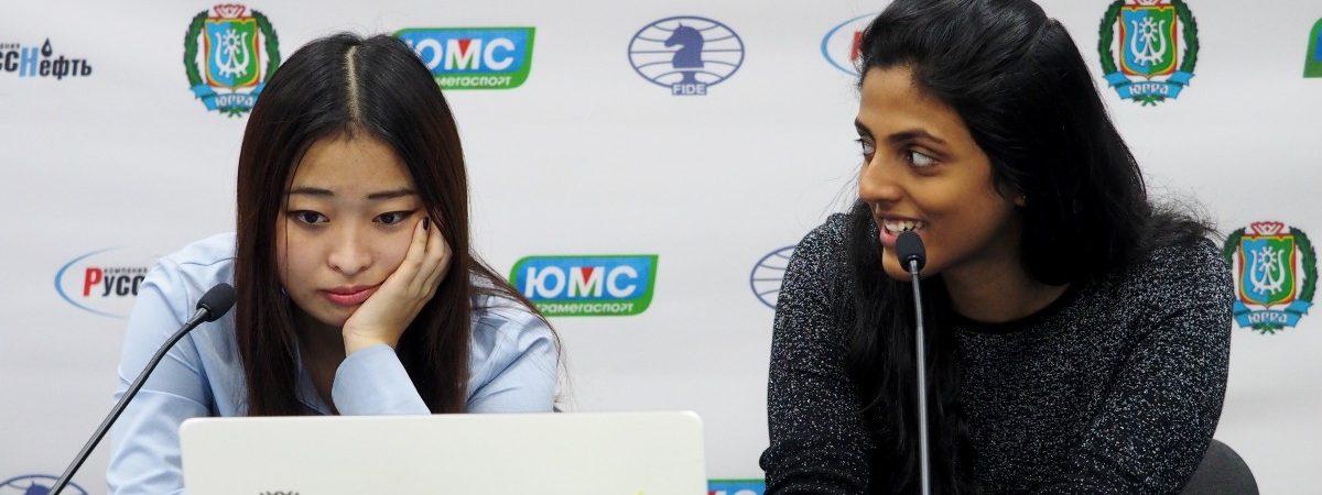 Ju Wenjun  (CHN) and Dronavalli Harika (IND)
