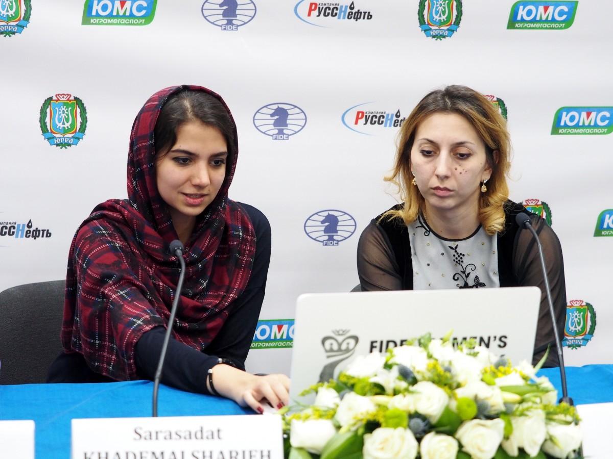 Sarasadat Khademalsharieh (IRN) and Lela Javakhishvili (GEO)
