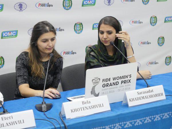 Bela Khotenashvili (GEO) and Sarasadat Khademalsharieh (IRN)