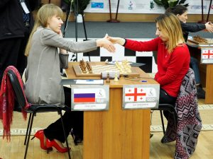 Olga Girya (RUS) and Lela Javakhishvili (GEO)